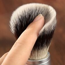Synthetic Badger Hair Silvertip Shaving Brush with Comfort Handle Barber Tool