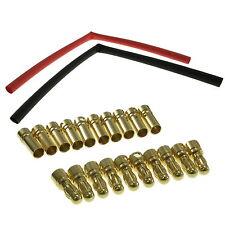 10 pares 3.5mm bala Corally conectores enchapados en oro con Calor Shrink vendedor del Reino Unido