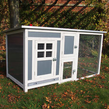 PLASTIC RABBIT HUTCH GUINEA PIG HUTCHES RUN RUNS LARGE FERRET CAGE RABBIT HUTCH