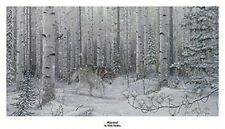 Mark Daehlin Wolf Print  Watched 14.5 x 5