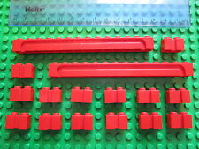 LEGO 16 x Sliding Garage Door / Shutter Modified Grooved Bricks 1x14 & 1x2 RED