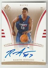 2007/08 SP AUTHENTIC RAMON SESSIONS ROOKIE AUTHENTICS SIGNATURES RC AUTO 233/999