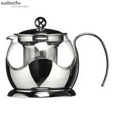 Sabichi Pyrex Glass Teapot With Infuser 750Ml Tea Serveware Kitchen Home New