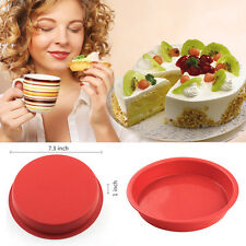 Round Muffin Chocolate Candy Bread Cake Mold Mould Silicone Baking Bareware Pan