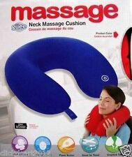 Battery Operated Vibrating Massager Microbead Comfort Neck Cushion Pillow - Red