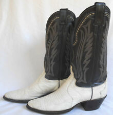Justin Boots Wh Iguana Lizard Western Cowgirl 6B Womens Shoes Blk Leather 4752