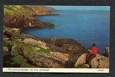 """View of """"Five Points Clodgy"""", St Ives. Posted 1968."""
