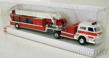 BUSCH NEW HO 1/87 Scale 3-axle LaFrance Ladder Fire Truck Marked Summit NJ #2