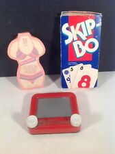 Vintage Game Lot POCKET  ETCH A SKETCH, Skip-Bo, Twos Company Playing Cards(new)