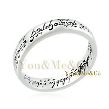 """18k White Gold GP """" Lord of the rings """" Ring Size 5"""