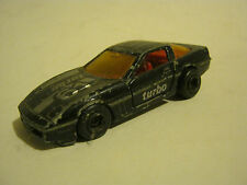 Majorette Black Chevrolet Corvette Turbo #61, Fair Condition (MC-6)