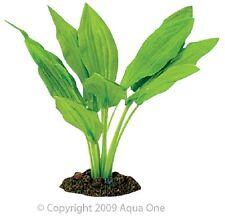 Aqua One A1-24104 Silk Plant Amazon Sword Broad Leaf 13cm For Freshwater Tank