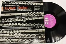 """J.S.Bach Sonata No1 in B Minor For Flute / Kuhlau: Two Duets LP 12"""" (G)"""