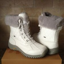 UGG Adirondack II Quilted White Sheepskin Waterproof eVent Boots US 10 Womens