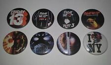 8 Friday the 13th 25mm button badges Final Chapter A New Beginning Jason Lives