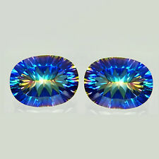 12.86Cts Extreme Luster Natural Multi-Color Rainbow Sparkling Concave Cut TOPAZ