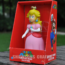 "SUPER MARIO BROTHERS TOYS LARGE SIZE 9"" PRINCESS PEACH ACTION FIGURE"