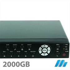 8 Channel 8CH System Security D1 DVR 2TB HDD Installed - iPhone internet H264