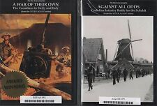 Canadian Military History DVD Lot Never Again Series Sicily Italy Battle Scheldt