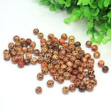 100 Bead Perline Perle Legno 10mm con Foro per Collane Bracciali Braccialetti