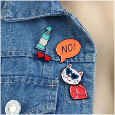 Lovely Cartoon Jewelery Enamel Colorful Cat Collar Pins Badge Corsage Brooch
