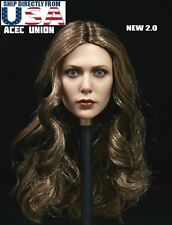 1/6 Elizabeth Olsen Scarlet Witch Head Sculpt 2.0 For Hot Toys Phicen U.S.A.