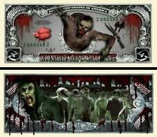 Zombie  Novelty Dollar Bill with Free shipping & Semi Rigid Protector Buy Now