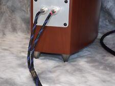 Maze Audio Eden Series Hand Made Speaker Cables 12 Gauge 8ft Blk/Blue Banana/Ban