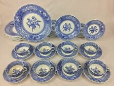 Copeland Spode Camilla Blue & White Floral 40-Piece Set for EIGHT