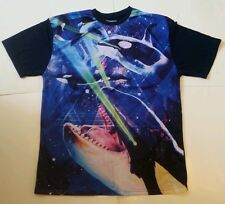 New Adult Killer Whales Orcas With Laser Eyes Jersey Shirt funny galaxy Sz Large