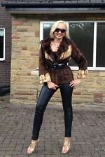 Vintage Mink Colour Real Fur Coat Jacket