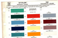 1960 1961 1962 1963 1964 CHEVROLET TRUCK CORVAIR 95 PAINT CHIPS 61 DITZLER 3