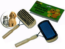 PET DOG PUPPY RABBIT CAT DOUBLE SIDE GROOM BRUSH COMBING BRISTLES PINS WOODEN