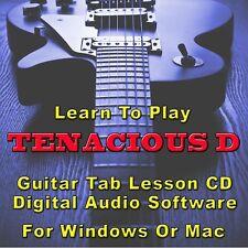 TENACIOUS D Guitar Tab Lesson CD Software - 46 Songs