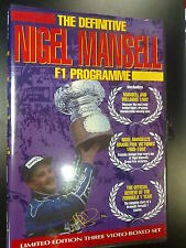 The Definitive Nigel Mansell F1 Programme, limited Edition 3 Video Boxed Set