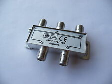 4 Way TV Cable satellite Signal Splitter for SKY Virgin media 5-1000MHz