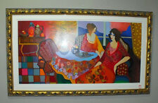 ITZCHAK TARKAY, Monica & Louise, 28/50 Serigraph on Canvas, hand signed