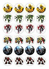 24 TRANSFORMERS  WAFER RICE EDIBLE FAIRY/CUPCAKE  CAKE  TOPPERS
