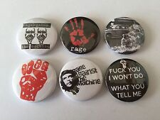 6 Rage Against The Machine button Badges Killing in the Name Bombtrack Wake Up