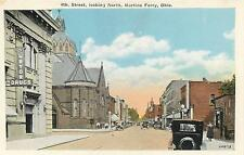 MARTINS FERRY, Ohio  OH   4th Street Scene looking North  c1920s      Postcard