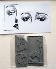 Craft Rubber Stamps -unmounted - Face & Eyes (302)