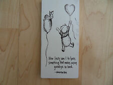 Shabby winnie the pooh and piglet plaque, chic and unique