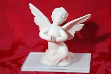 """Antique BOEHM Praying Angel Boy White Bisque Porcelain Figurine 5 1/4"""" Open Hand"""