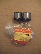 SUZUKI T125 STINGER/TS50 GAUCHO/A100/AS50 FORK TUBE INNER GIDE BUSHING SET NOS!