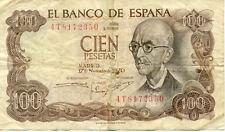ESPAGNE SPAIN ESPANA 100 PTS 1970 état voir scan 350