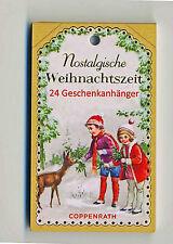 Nostalgische Weihnachtszeit 24 Geschenkanhänger mit vikt. Motiven DIY Adventskal