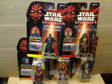 EP1 Lot of 5 Episode 1 Star Wars Darth Maul Adi Gallia Nute Ric Olie Kenobi