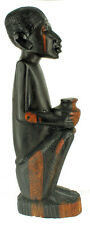 BEST QUALITY VINTAGE MAKONDE EBONY MPINGA BLACKWOOD AFRICAN MAN FIGURINE CARVING