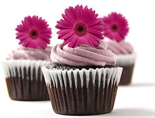 ✿ 24 Edible Rice Paper Cup Cake Toppings, Cake decs - Gerbera ✿