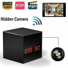 Hd Remote control Spy Camera Smart Clock P2P WiFi Video Record IOS/Android phone